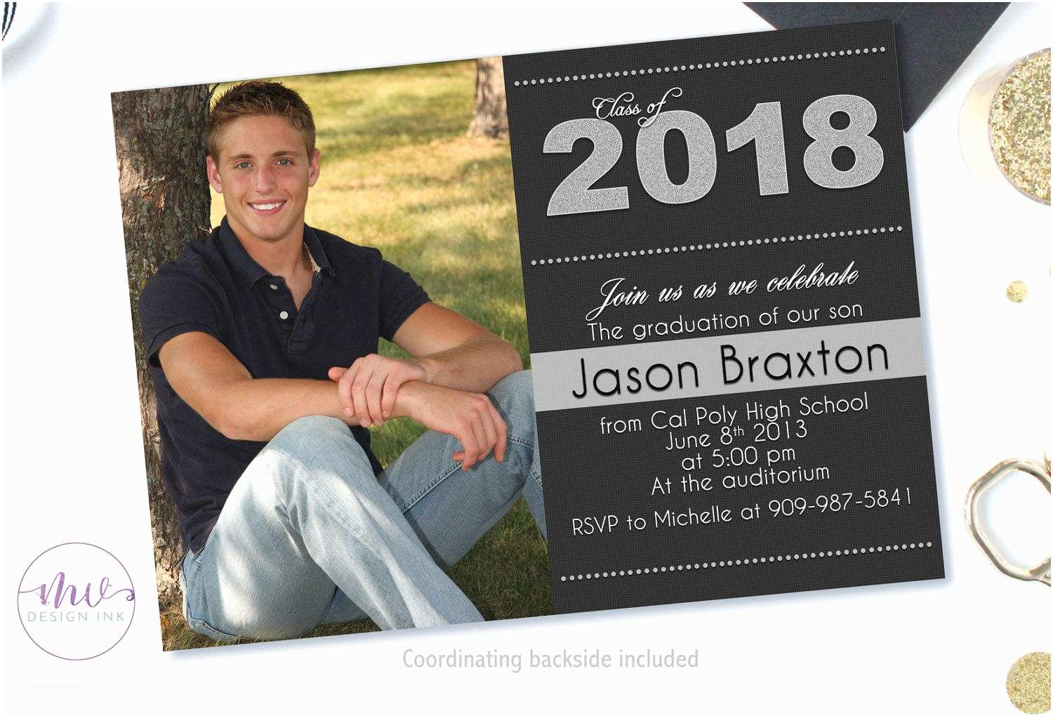 High School Graduation Invitations Graduation Invitation Graduation Party Invitations High