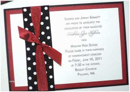 homemade high school graduation invitations