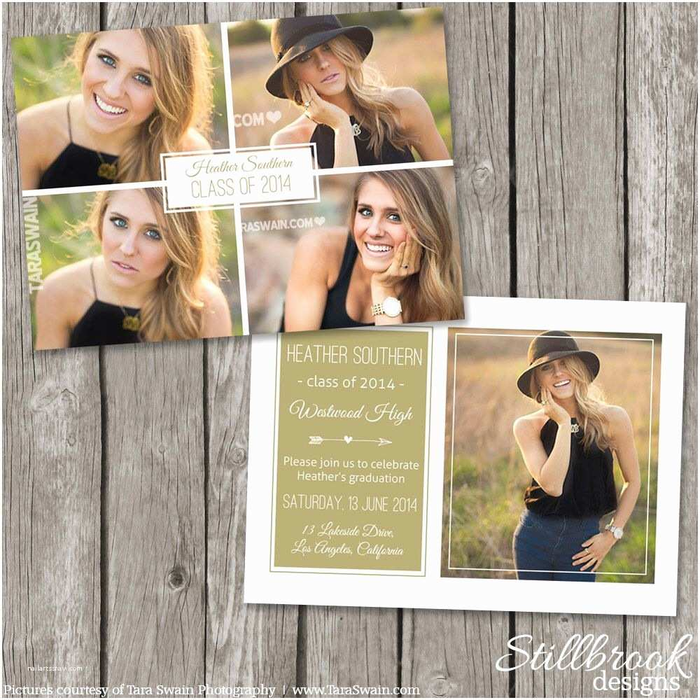 High School Graduation Invitations Senior Announcement Template Graduaton Card High School