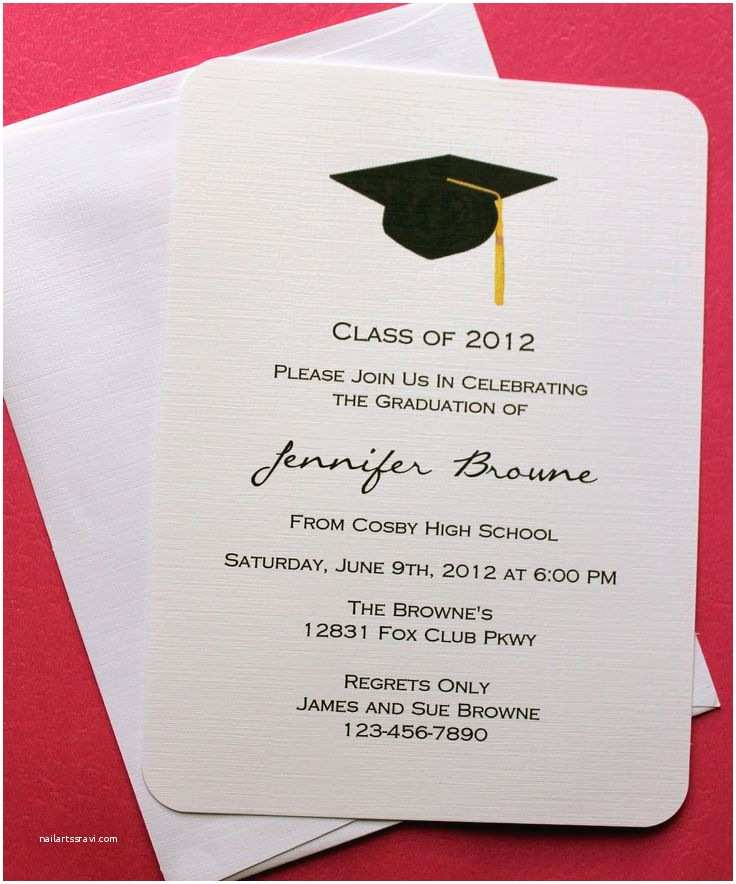 High School Graduation Invitations Templates 25 Best Ideas About Graduation Invitations On Pinterest