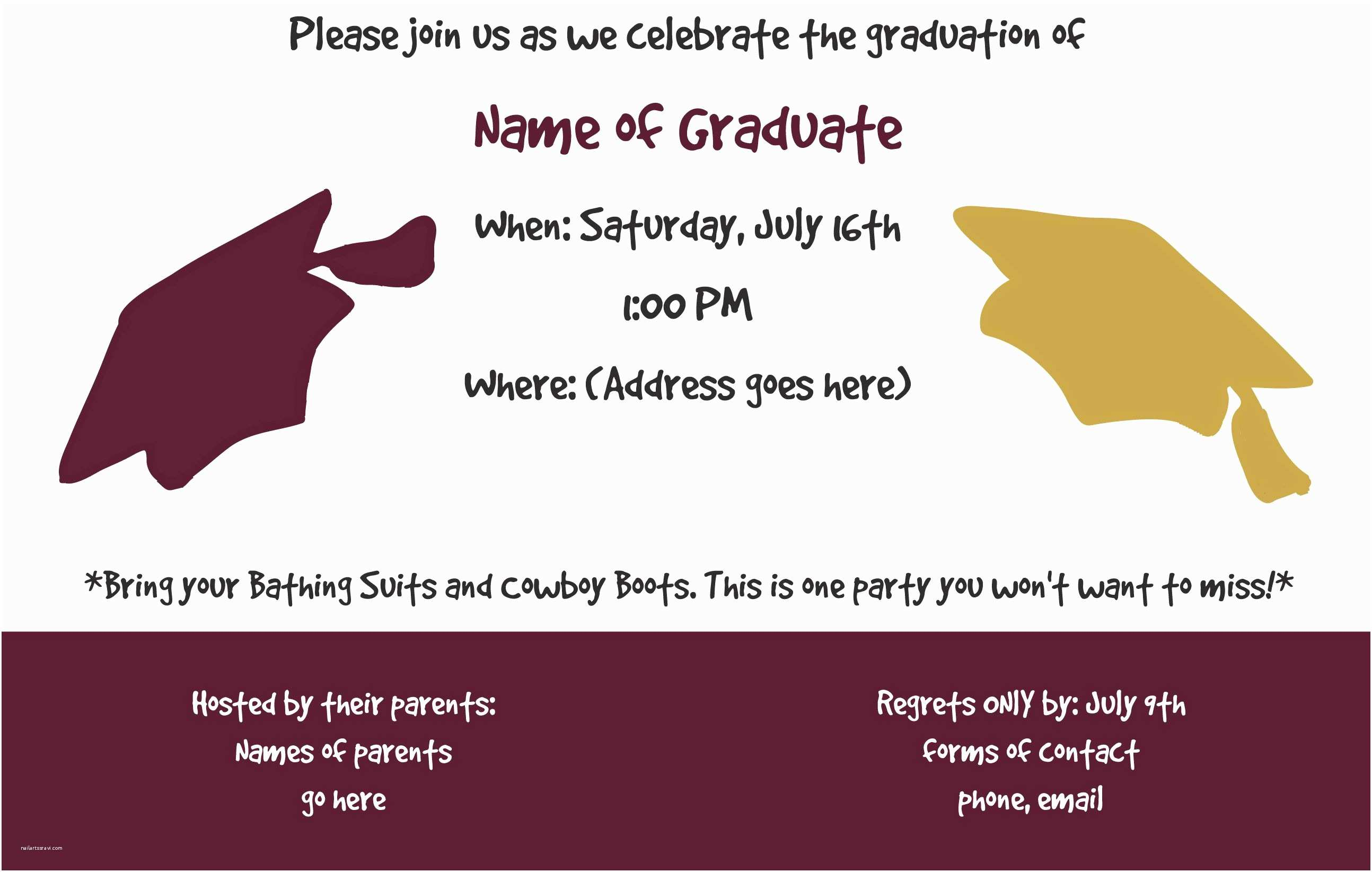 graphic regarding Printable Graduation Party Invitations named Substantial University Commencement Invites Templates Commencement