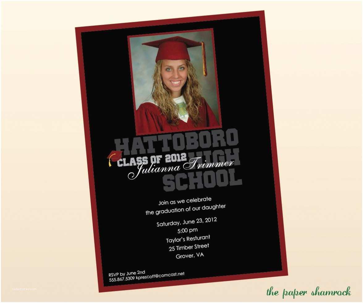 High School Graduation Invitations Templates High School Graduation Invitation Template Various