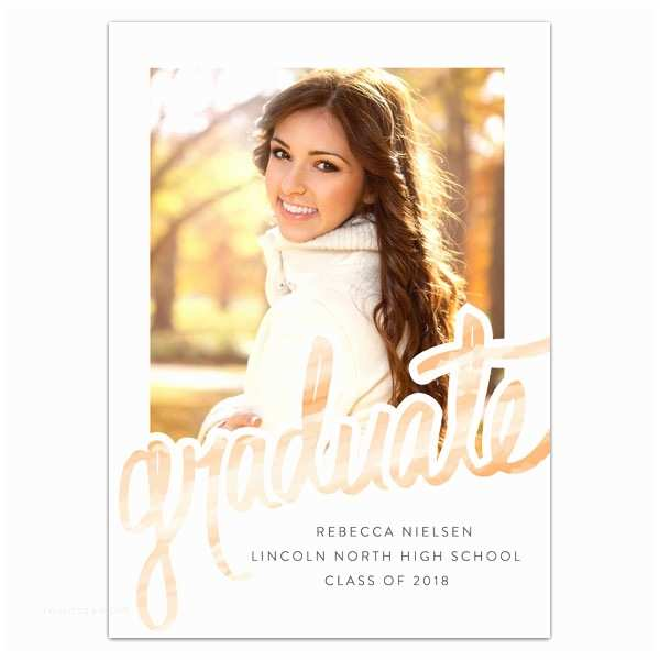 High School Graduation Invitations Watercolor High School Graduation Announcements