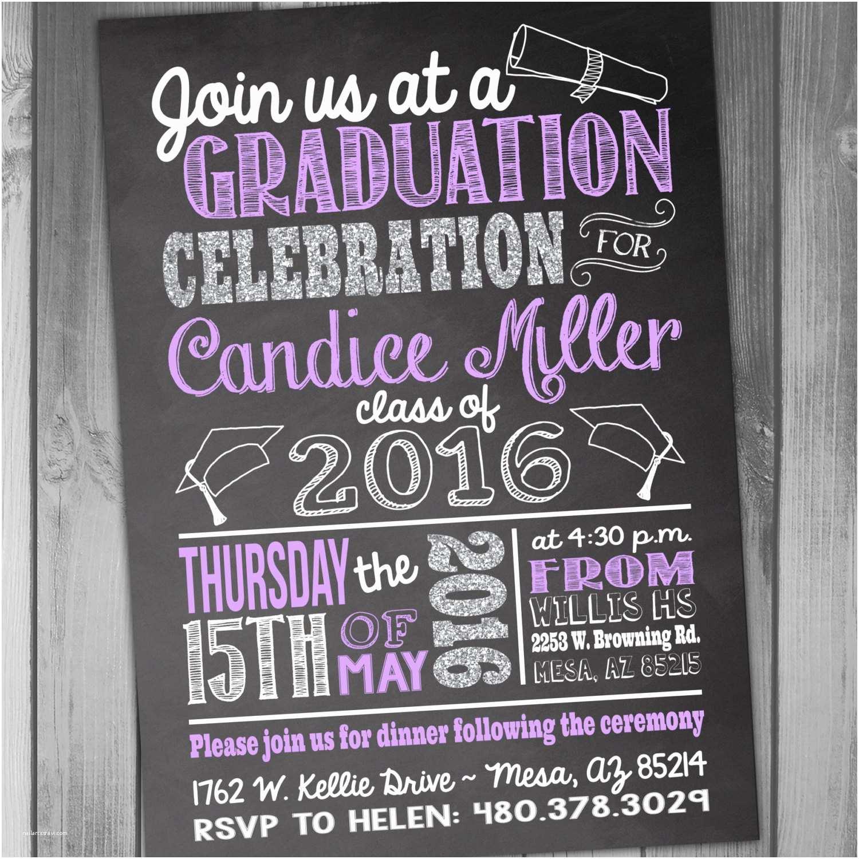 High School Graduation Party Invitations Graduation Invitation High School Graduation Graduation Party