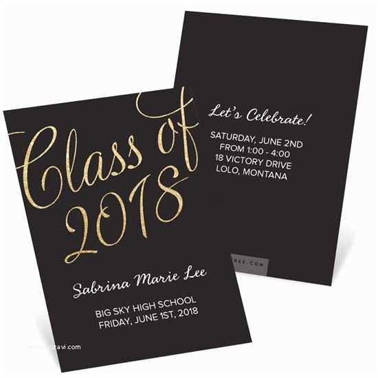 High School Graduation Party Invitations Graduation Mini Announcements Custom Designs From Pear Tree