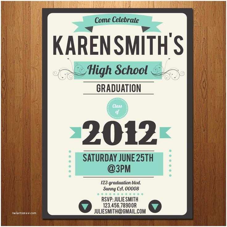 High School Graduation Party Invitations High School College Graduation Party Invitation