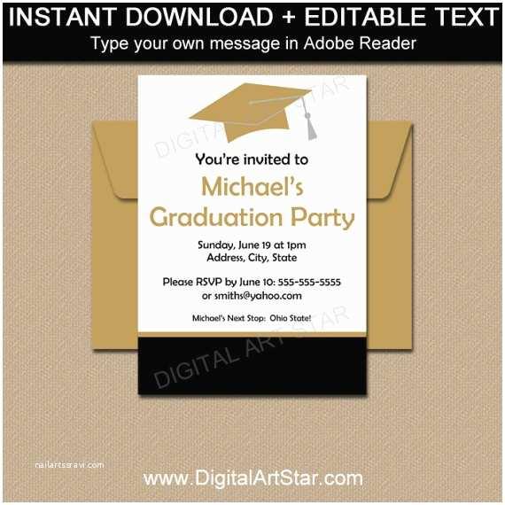 high school graduation invitation template printable