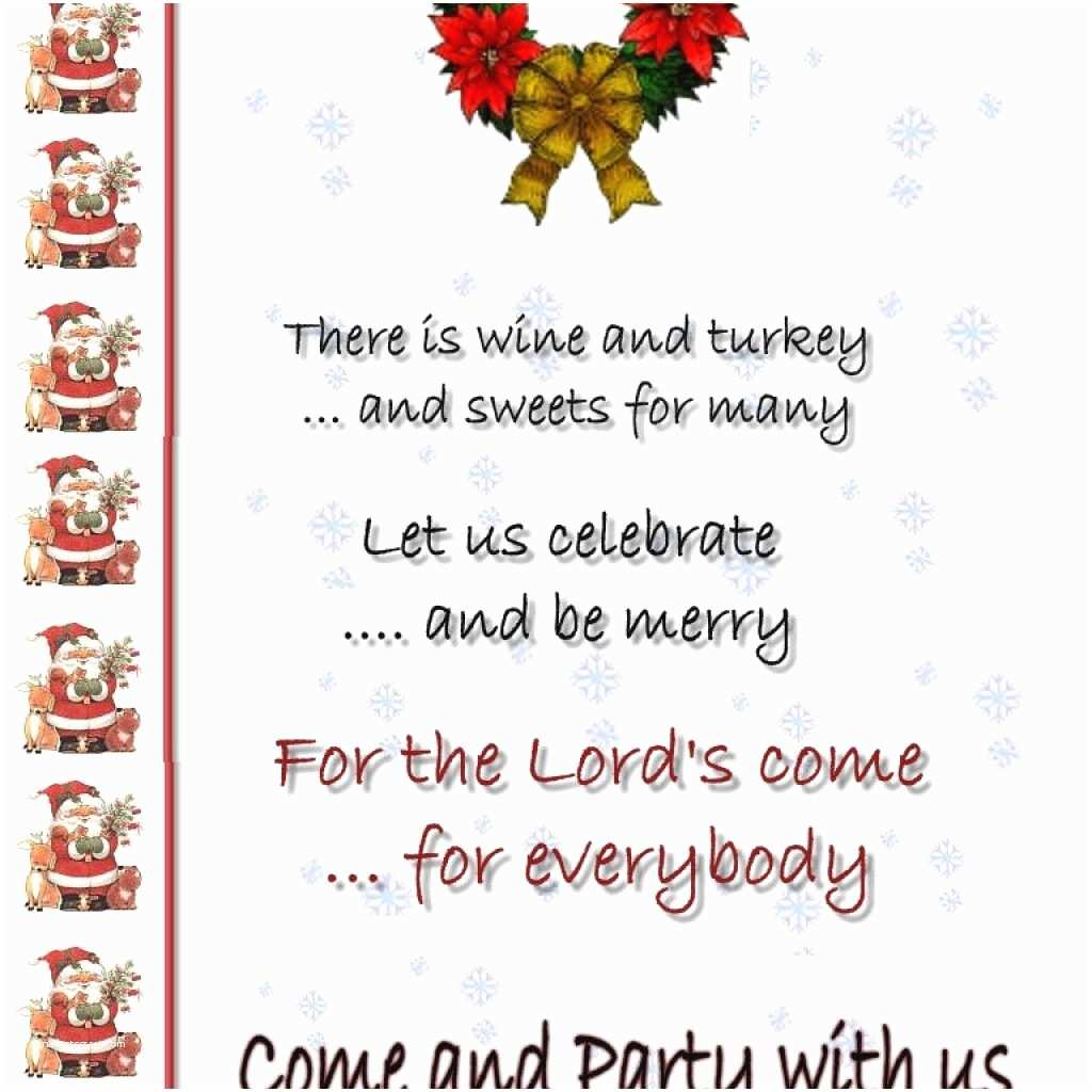 Hilarious Christmas Party Invitation Wording Christmas Invitation Card format – Merry Christmas & Happy