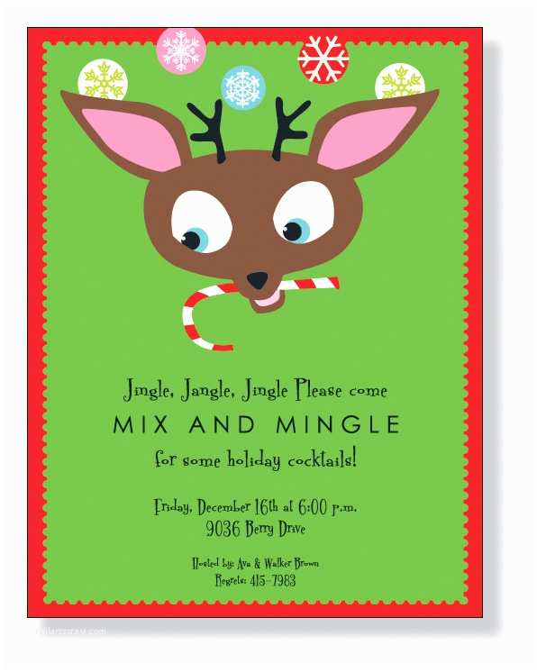 """Hilarious Christmas Party Invitation Wording Quick View Zl 334 """"deer Cheer Laser Paper"""