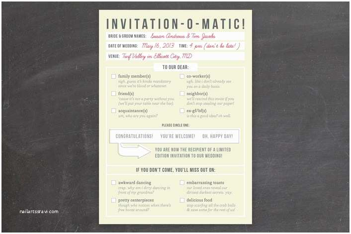 Hilarious Wedding Invitations Shit Just Got Real 20 Clever and Funny Wedding