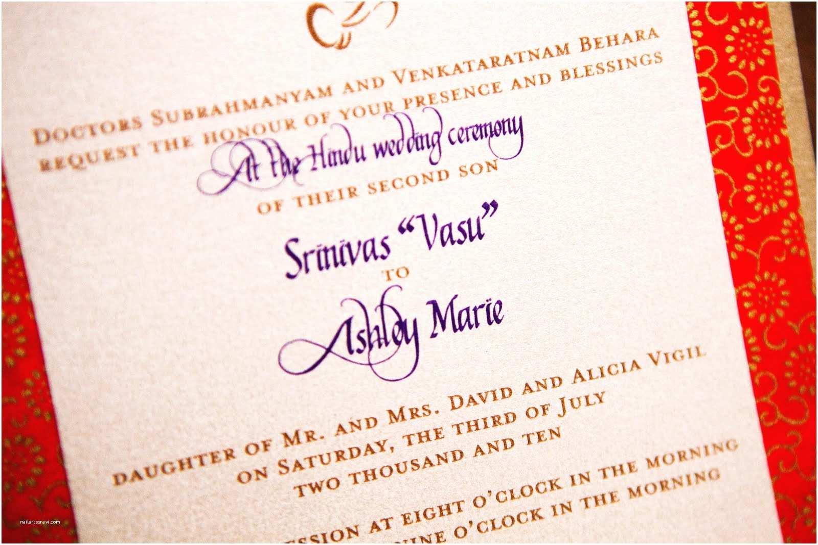Hindu Wedding Invitations Hindu Wedding Invitations – Gangcraft