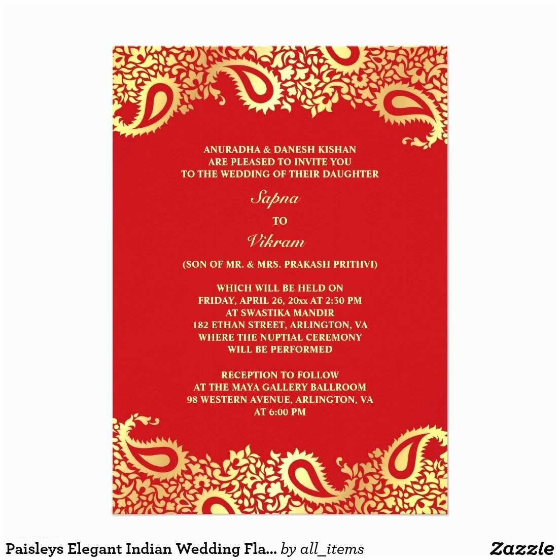 Hindu Wedding Invitations Indian Wedding Invitation – Gangcraft