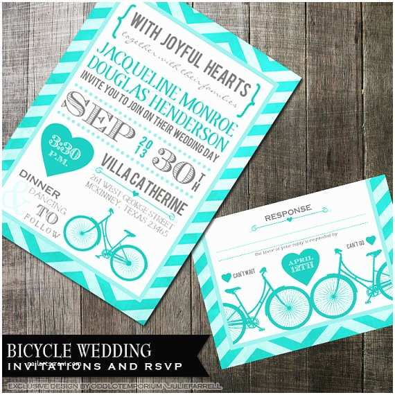 Hipster Wedding Invitations Bicycle Wedding Invitation Hipster Wedding Stationery