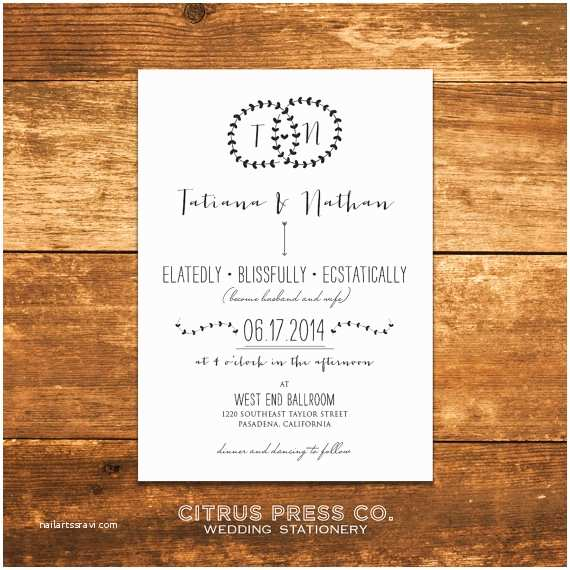 Hipster Wedding Invitations Hipster Monogram Garland Wedding Invitation by Citruspressco