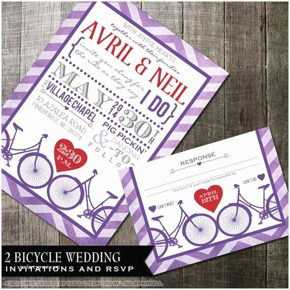 Hipster Wedding Invitations Hipster Wedding Invitation Bicycle Wedding Invitation