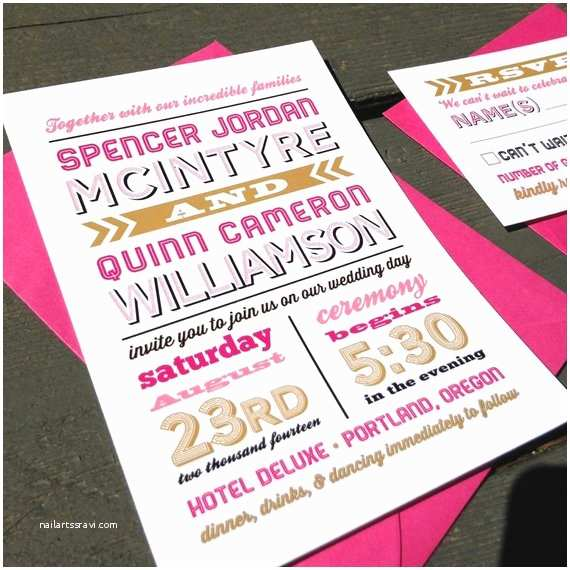 Hipster Wedding Invitations Hipster Wedding Invitation Starts at 3 75 Each Modern