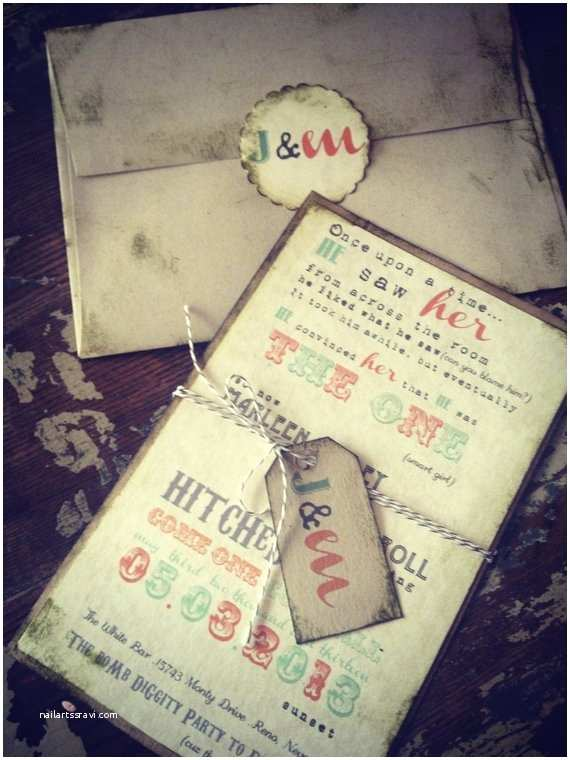 Hipster Wedding Invitations Items Similar to Custom Wedding Invitation Hipster Wedding