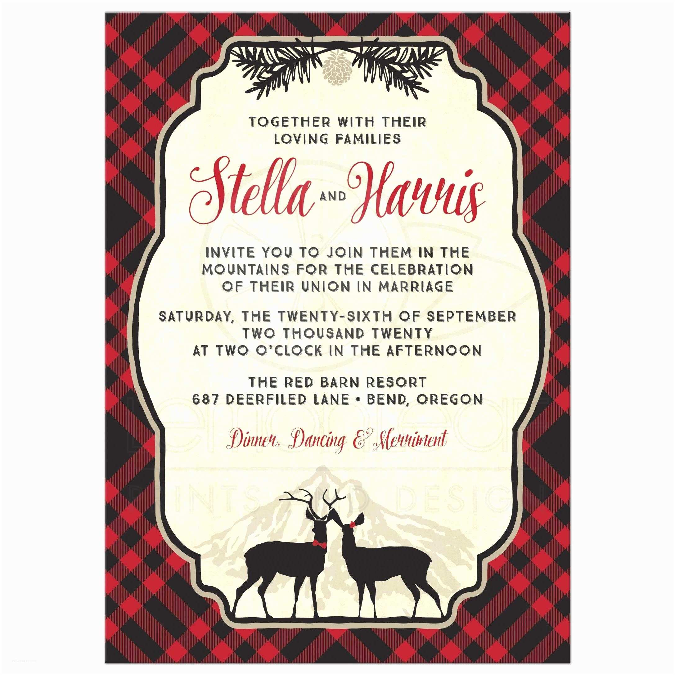 Hipster Wedding Invitations Wedding Invitations Plaid Mountain Hipster