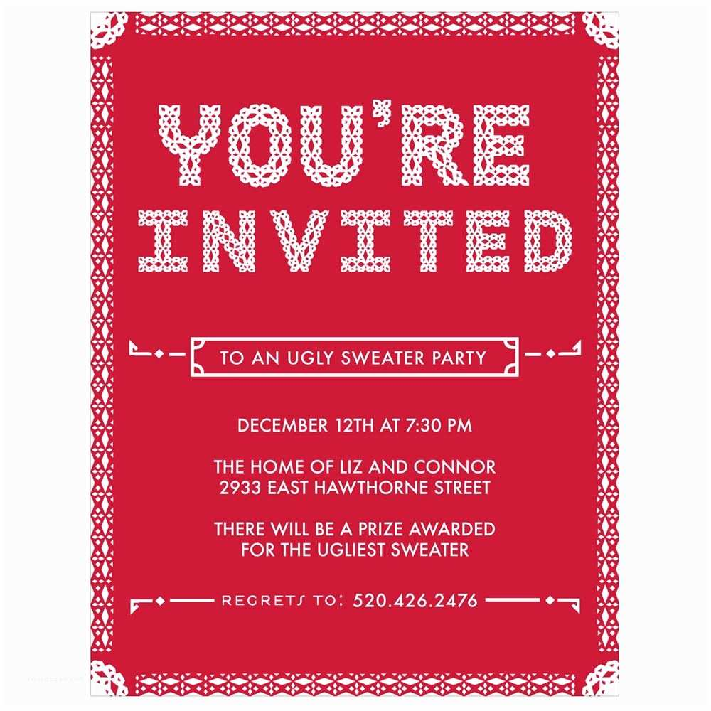 Holiday Party Invitation Particular Pattern Holiday Party Invitations