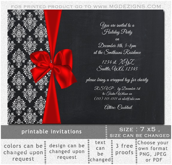 Holiday Party Invitation Template Free 8 Holiday Invitation Templates Bookletemplate