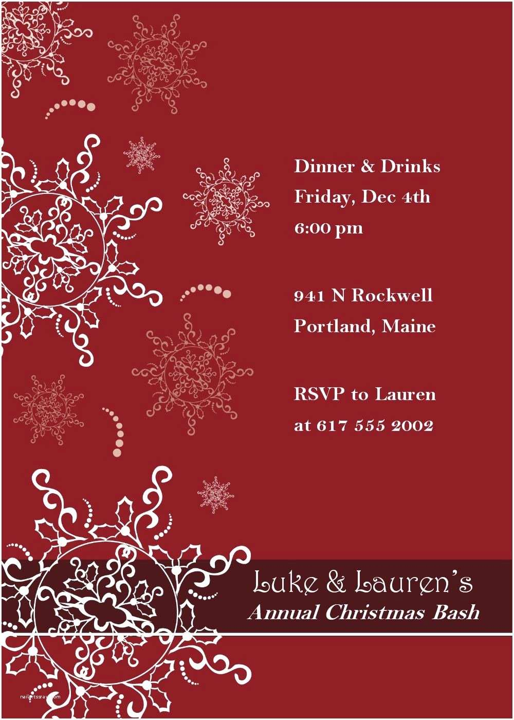 Holiday Party Invitation Template Free An Invitation to Depict the Holiday Spirit and Invite the