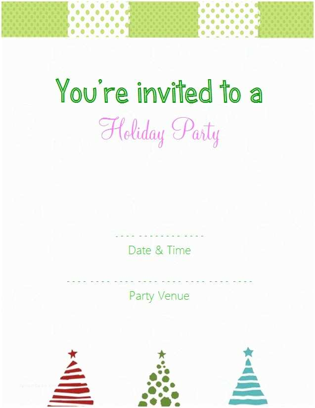 Holiday Party Invitation Template Free Christmas Dinner Invitations Template