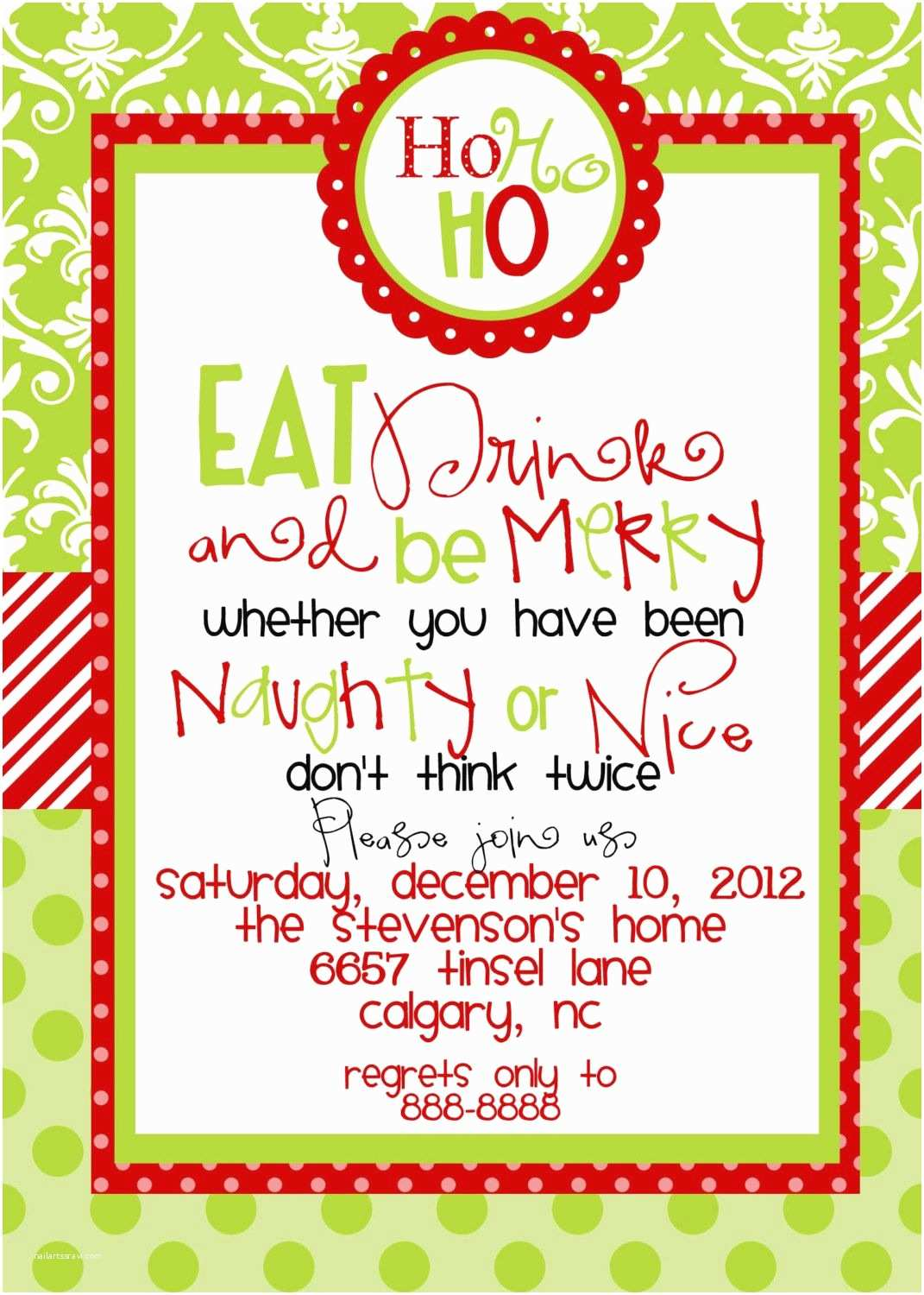 Holiday Party Invitation Template Free Christmas Party Invitations Templates Free Printables