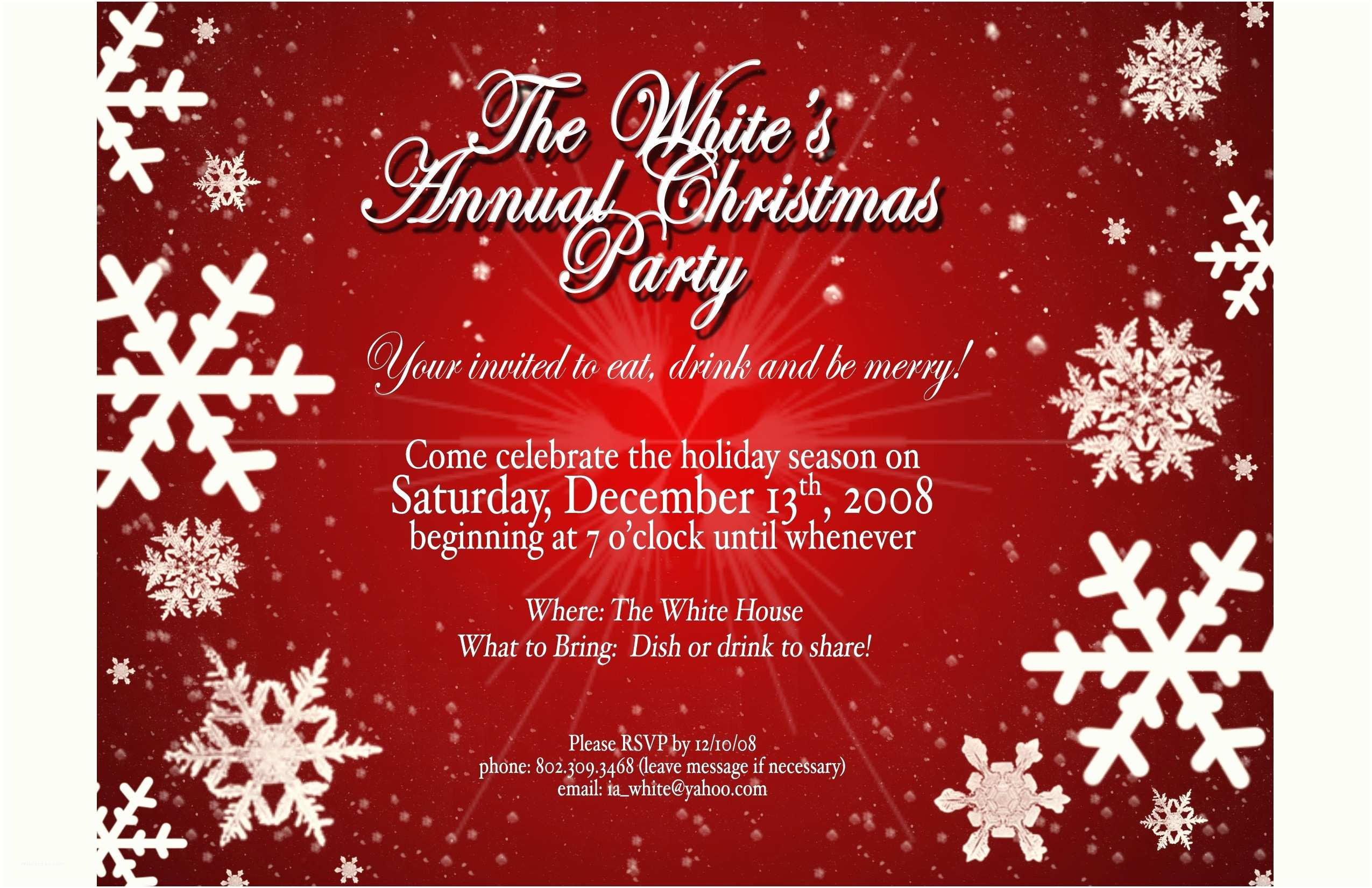 Holiday Party Invitation Wording Examples Christmas Invitation Templates Free Template Resume Builder
