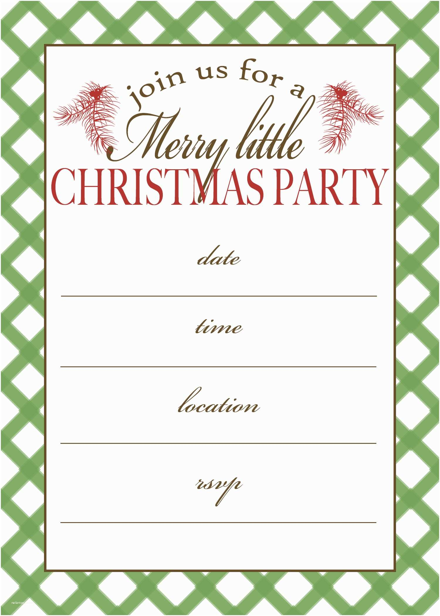 Holiday Party Invitations 7 Best Of Free Printable Christmas Invitation