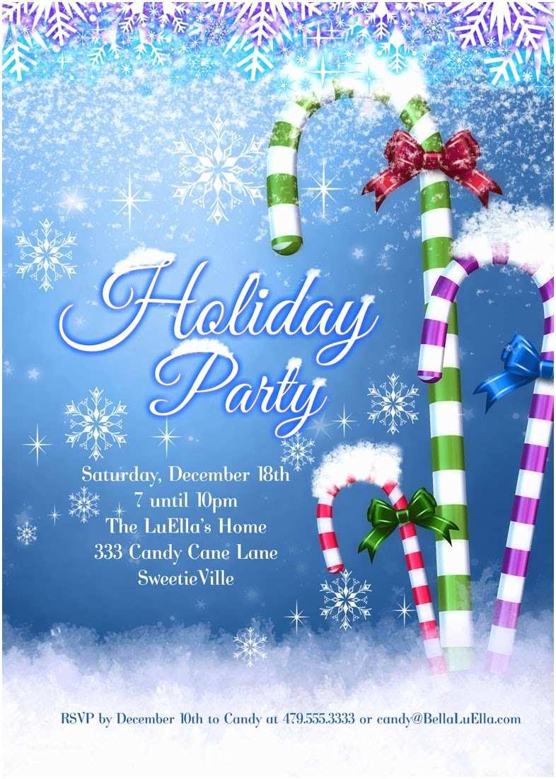 Holiday Party Invitations Bella Luella Christmas and Holiday Party Invitations