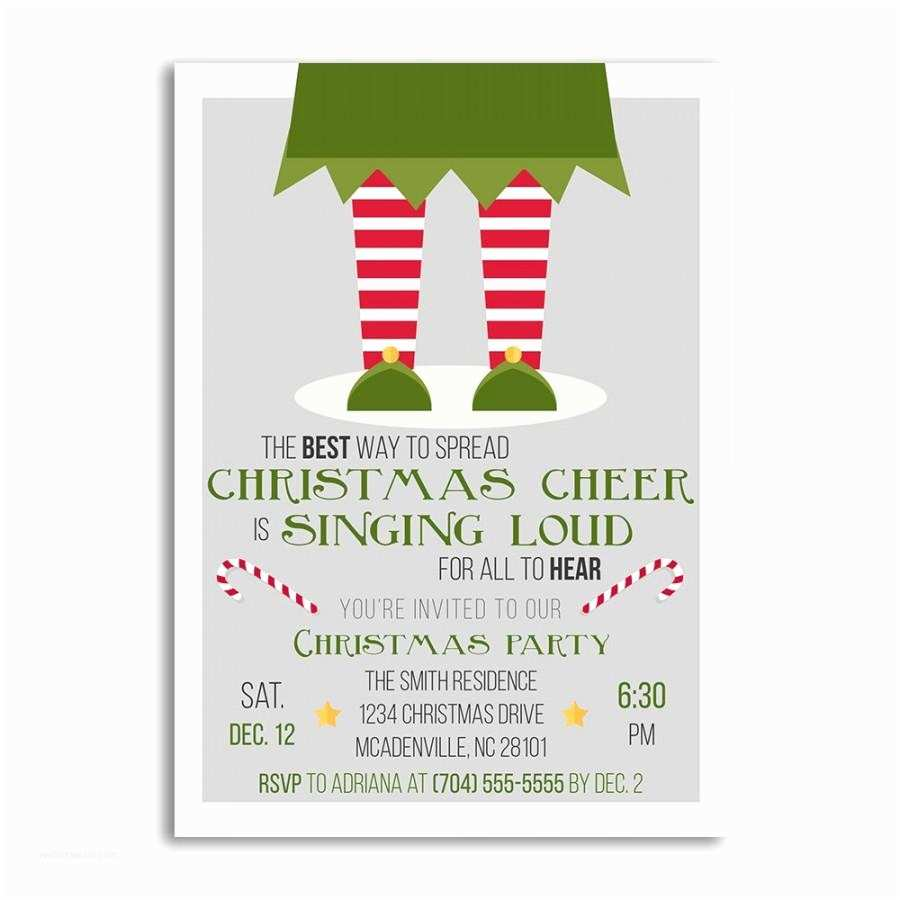 Holiday Party Invitations Christmas Invitations Christmas Invitation Elf Christmas