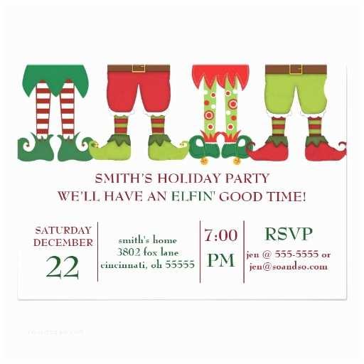 Holiday Party Invitations Elfin Holiday Party Invitation