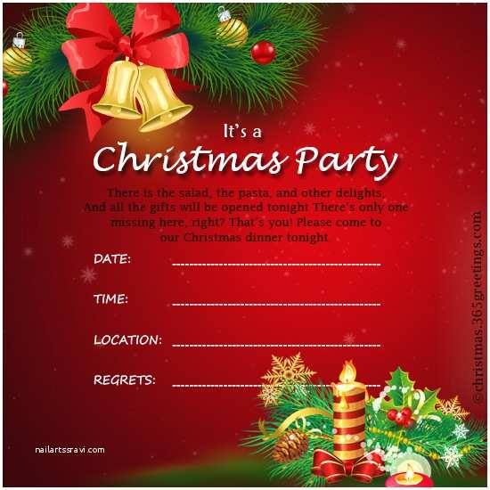 Holiday Party Invitations Templates Christmas Invitation Template and Wording Ideas