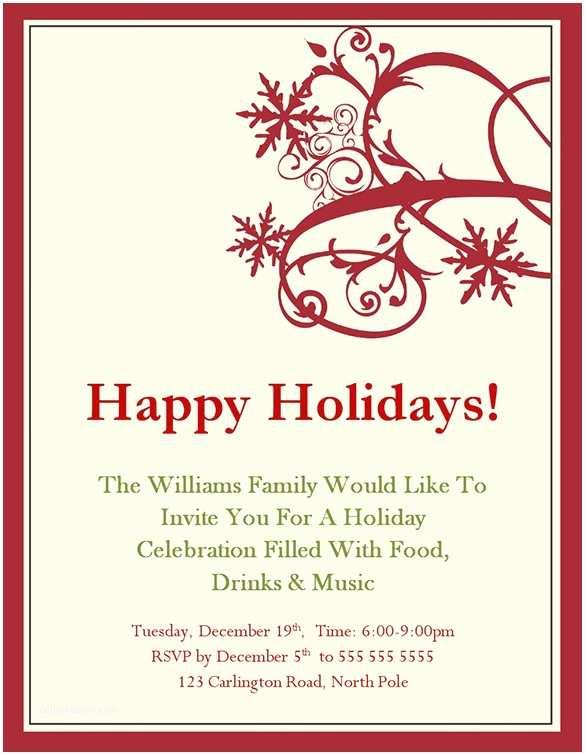 Holiday Party Invitations Templates Holiday Invitation Template – 17 Psd Vector Eps Ai Pdf