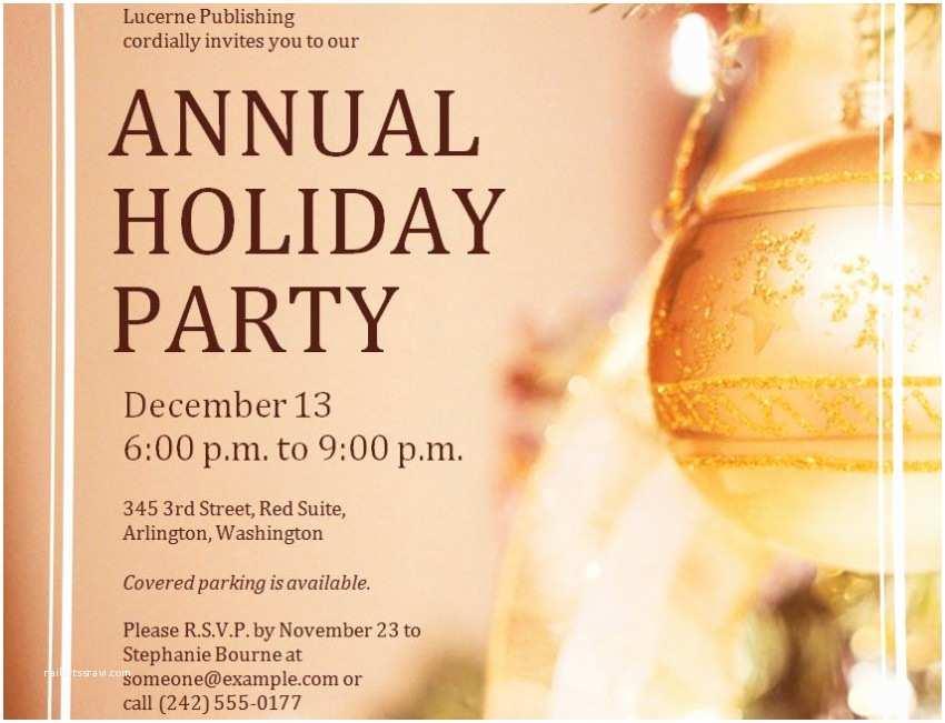 Holiday Party Invitations Templates Holiday Party Invitation Template Free – Gangcraft