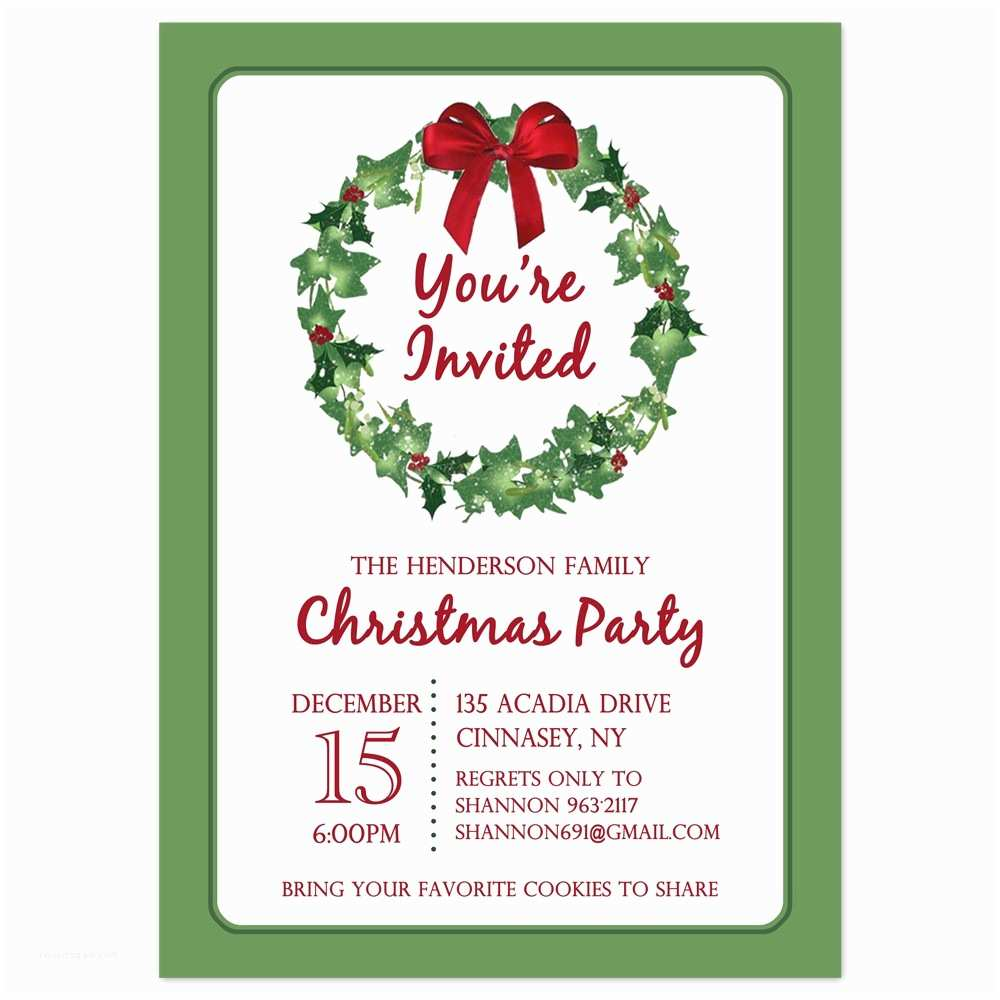 Holiday Party Invitations Templates Printable Christmas Party Invitation Mickey Mouse