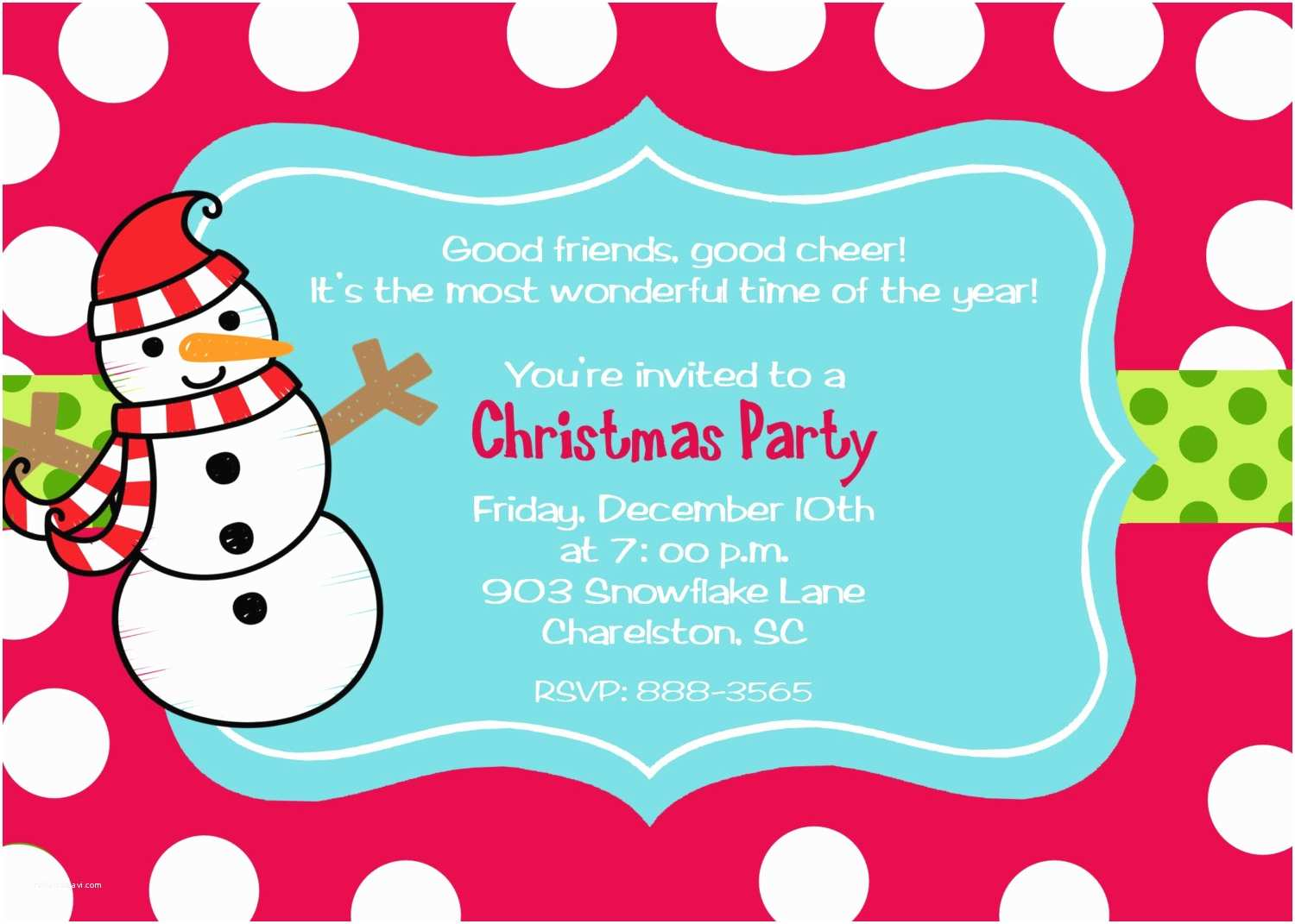 Holiday Party Invite Wording Christmas Kids Party Invitation – Fun for Christmas