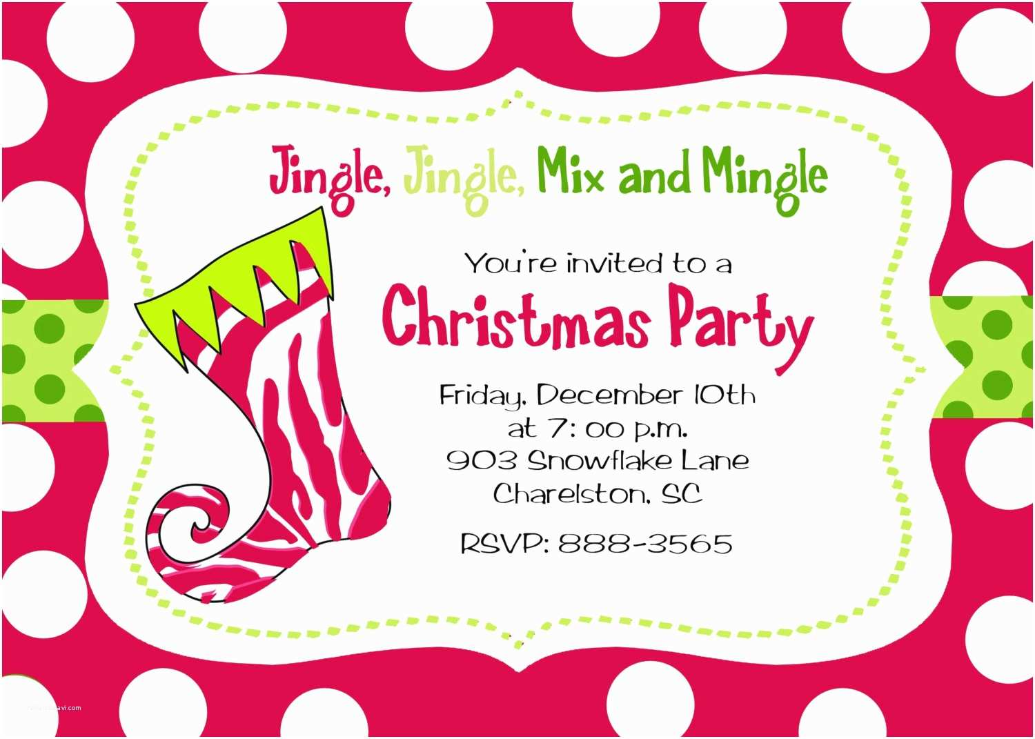 Holiday Party Invite Wording Christmas Party Invitation