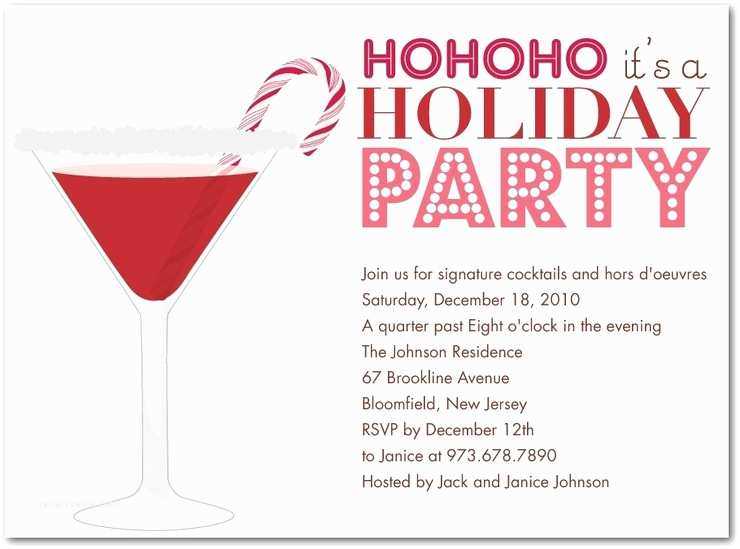 Holiday Party Invite Wording Holiday Party Invitations