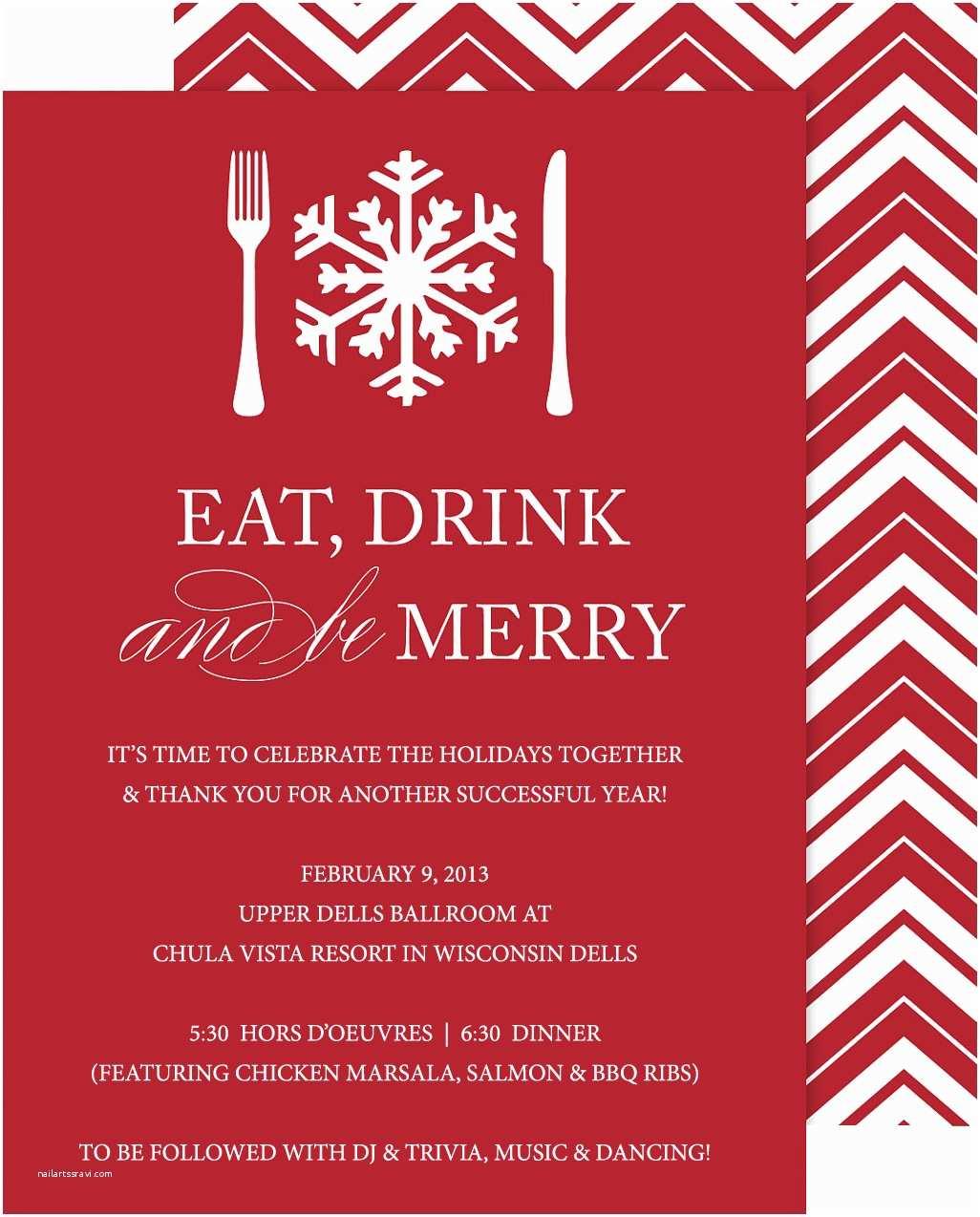 Holiday Party Invite Wording Pany Holiday Party Invitations