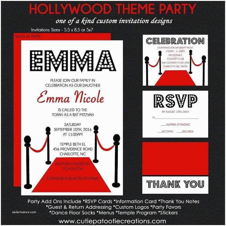 Hollywood Party Invitations 1000 Ideas About Hollywood Invitations On Pinterest