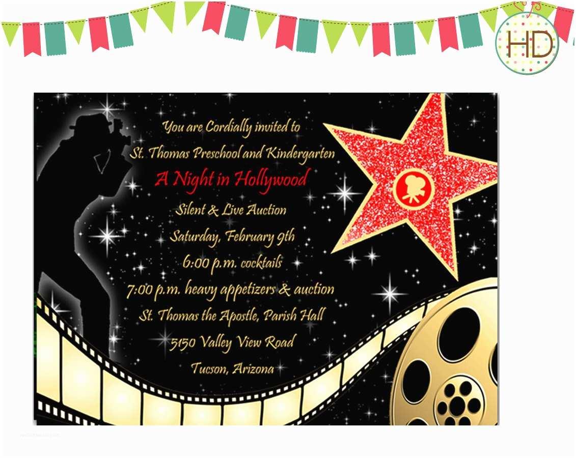 Hollywood Party Invitations 40th Birthday Ideas Hollywood Birthday Invitation