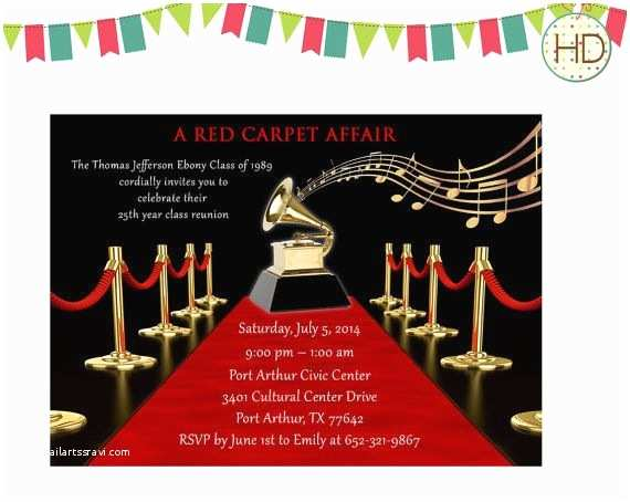 Hollywood Party Invitations 9 Best Music Notes Invitation Images On Pinterest