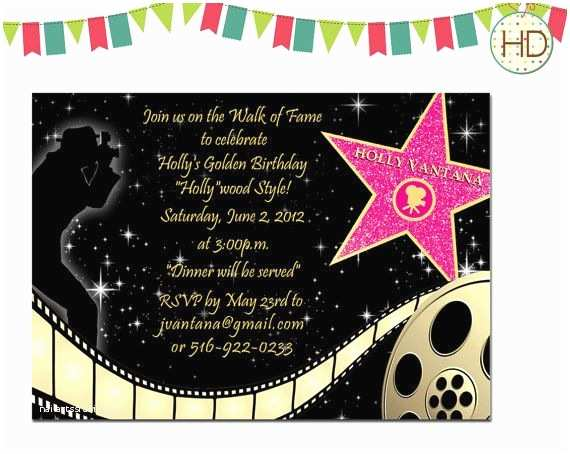 Hollywood Party Invitations Best 25 Hollywood Invitations Ideas On Pinterest