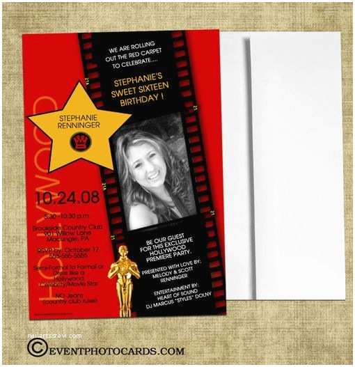 Hollywood Party Invitations Hollywood Invite Birthday Parties Pinterest