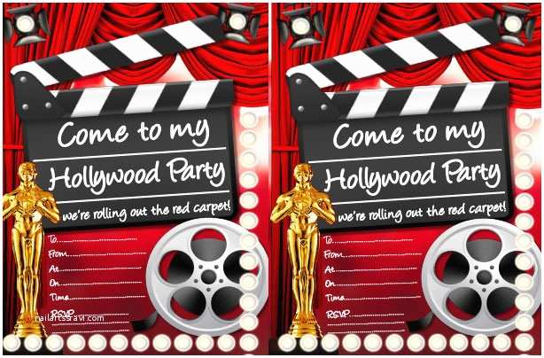 Hollywood Party Invitations Hollywood Party Ideas Goodtoknow
