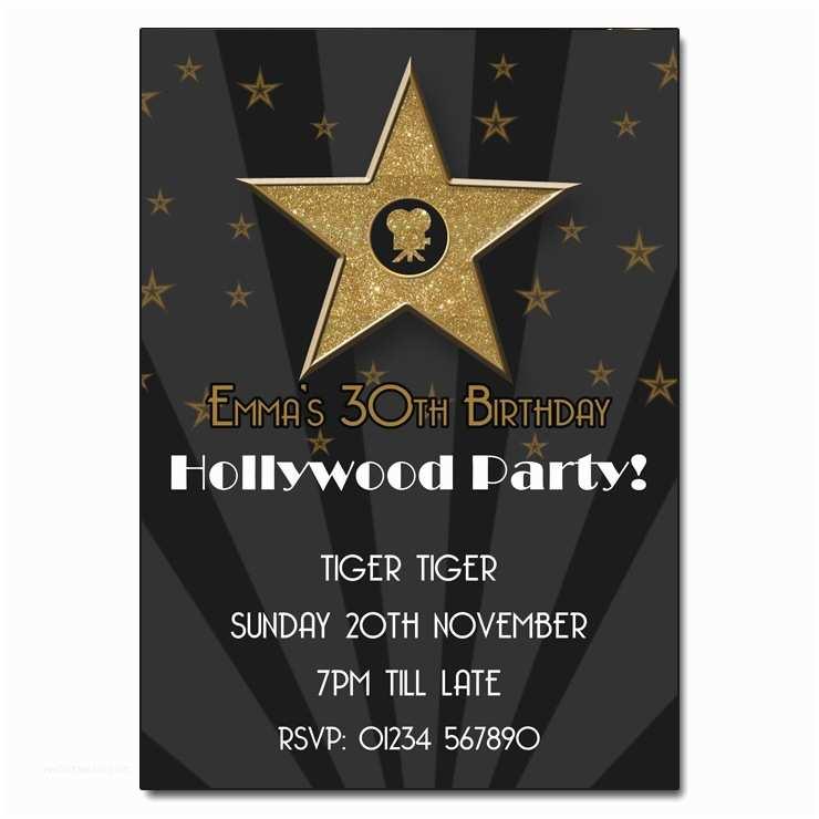 Hollywood Party Invitations Hollywood Party Invitation