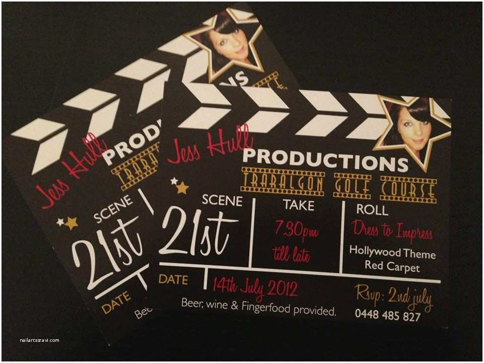 Hollywood Party Invitations Hollywood theme Party Invitations