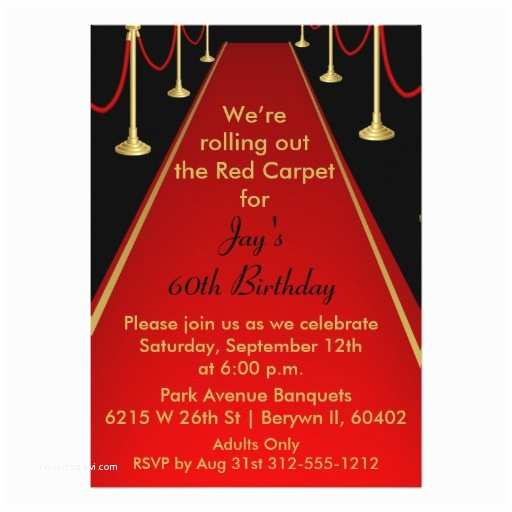 Hollywood Party Invitations Red Carpet Invitation Hollywood theme Sweet 16