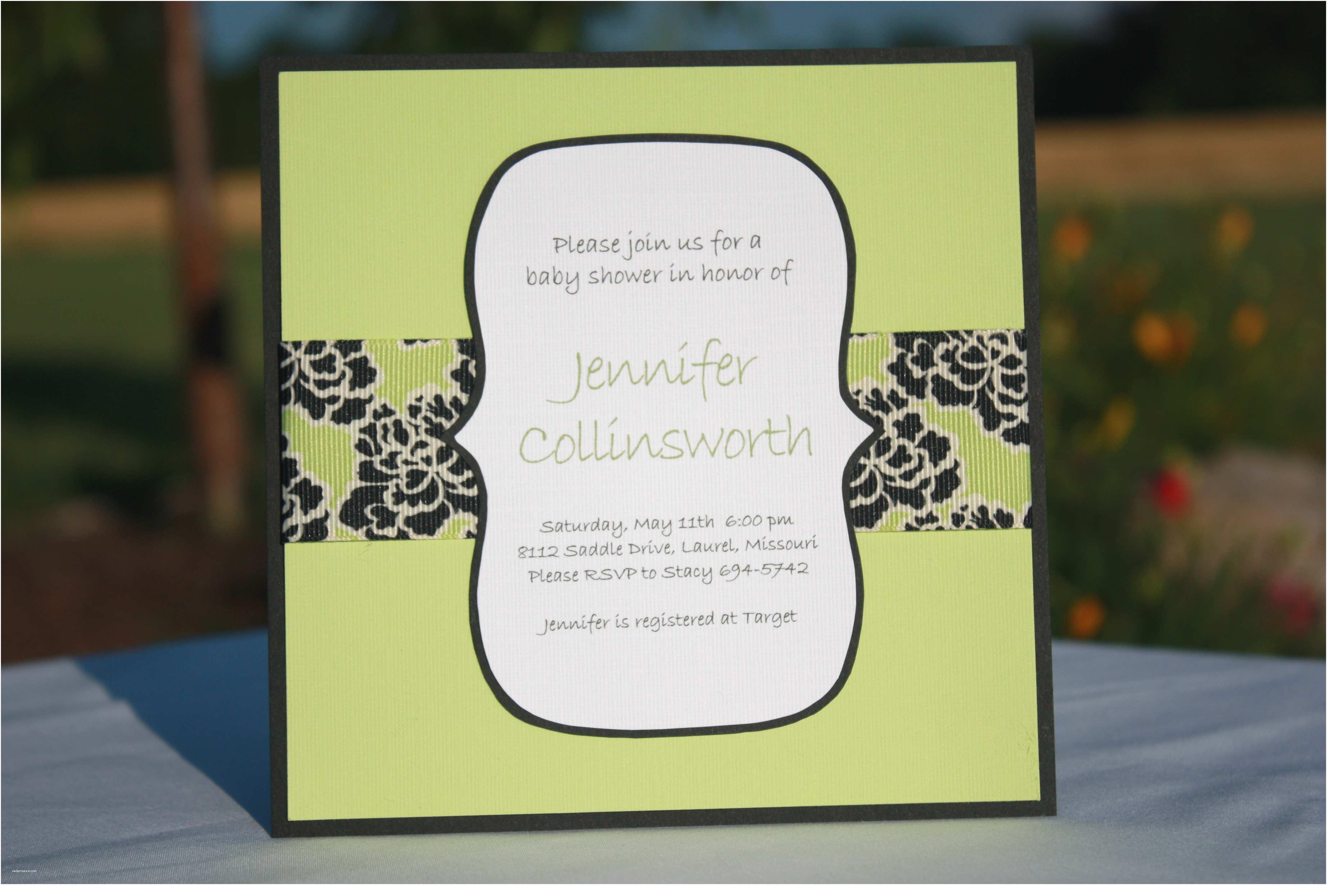 Homemade Baby Shower Invitations Handmade Baby Shower Invitations